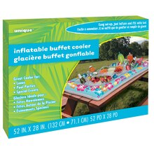 "Summer Party Inflatable Buffet Cooler, 52"" x 28"", Package"