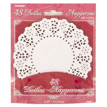 "4.5"" White Paper Doilies, 48ct"
