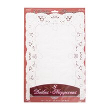 White Placemat Doilies, 8ct