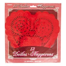 "10"" Red Heart Doilies, 12ct"