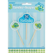 Turtle 1st Birthday Candle Set