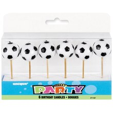 Soccer Birthday Candles, 6ct