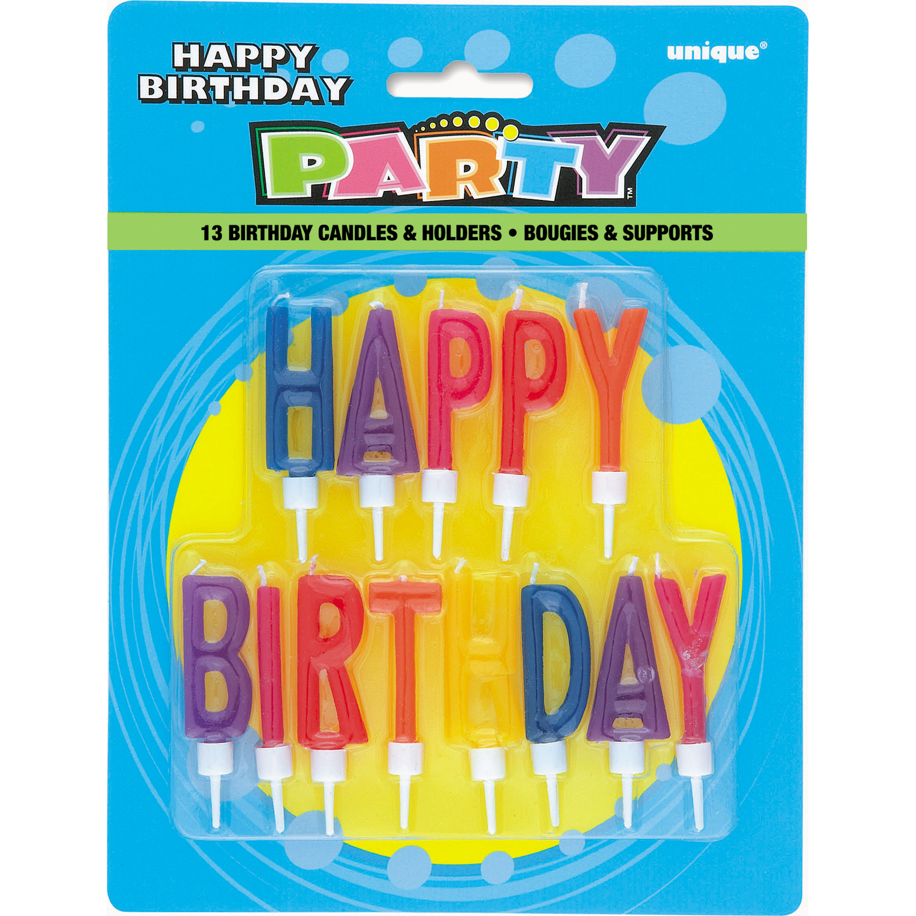 Letter Happy Birthday Candles with Holders Birthday Party Supplies