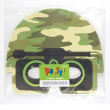 Camouflage Masks, 4ct