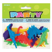 Neon Plastic Dinosaur Party Favors, Assorted 12ct