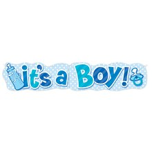 Blue It's a Boy Jointed Banner