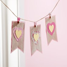 Gold Foil Heart Banner, medium