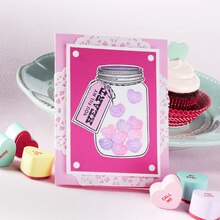Mason Jar Hearts Valentine's Day Card, medium