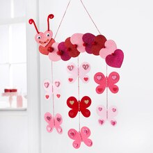 Valentine's Day Kids' Caterpillar Garland, medium