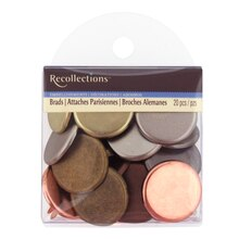 Round Metallic Brads by Recollections