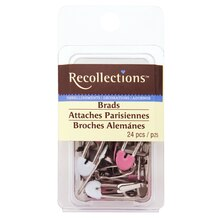 Pink & White Safety Pin Brads by Recollections