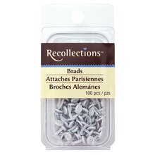 White Mini Button Brads by Recollections