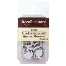 Large White Button Brads by Recollections