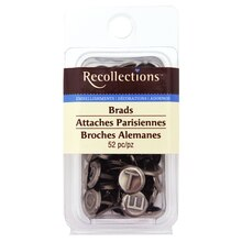 Antique Silver Alphabet Brads by Recollections