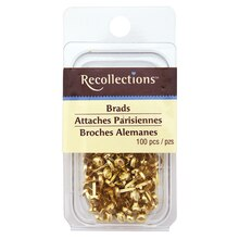 Gold Mini Brads by Recollections