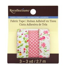 Pink Floral Fabric Tape by Recollections