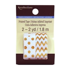 Gold Print Glitter Tape by Recollections