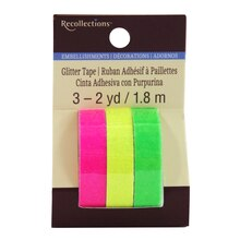 Solid Neon Glitter Tape by Recollections