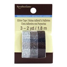 Silver & Black Glitter Tape by Recollections