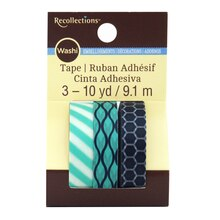 Navy & Turquoise Print Washi Tape by Recollections