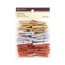 Medium Clothespin Embellishments by Recollections, Metallic Mix
