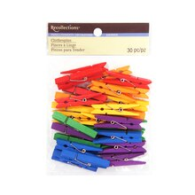 Medium Clothespin Embellishments by Recollections, Primary Mix
