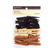 Medium Clothespin Embellishments by Recollections, Natural Mix