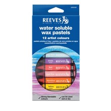 Reeves Water Soluble Wax Pastels, Set of 12