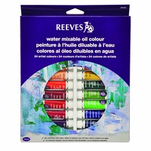 Reeves Water Mixable Oil Color 24 Tube Set, 10ml
