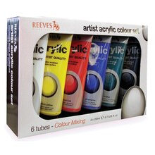 Reeves Acrylic Color Mixing Set, 200ml