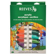Reeves Acrylic Color Tube Set, 22ml 10 Pack