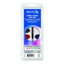 Reeves Semi-Moist Watercolor Pans, Set of 16