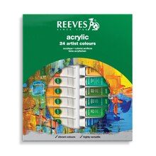 Reeves Acrylic Color 24 Tube Set, 10ml