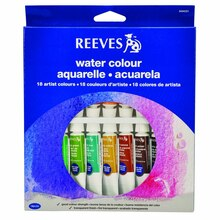 Reeves Watercolor 18 Tube Set, 10ml