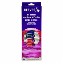 Reeves Oil Color 10 Tube Set, 22ml