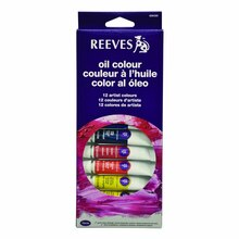 Reeves Oil Color 12 Tube Set, 10ml