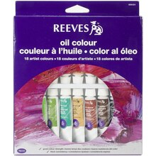 Reeves Oil Color 18 Tube Set, 10ml