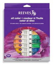 Reeves Oil Color 24 Tube Set, 10ml