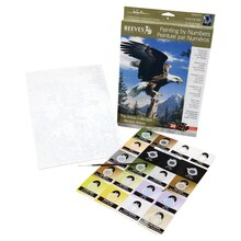 Reeves Paint by Numbers Artists Collection, Screaming Eagle