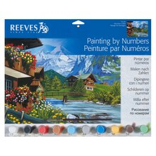 Reeves Large Paint by Numbers, Mountain Chalet
