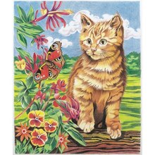 Reeves Medium Color Pencil by Number, Kitten and Butterfly