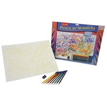 Reeves Large Color Pencil by Number, Floral Montage