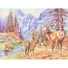 Reeves Large Color Pencil by Number, Mountain Wildlife