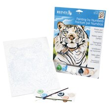 Reeves Medium Paint by Numbers, White Tiger
