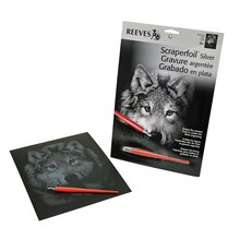 Reeves Scraperfoil Silver, Wolf Portrait