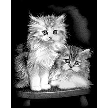 Reeves Scraperfoil Silver, Fluffy Kittens