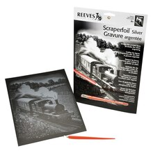 Reeves Scraperfoil Silver, Steam Train
