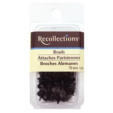 Small Black Button Brads by Recollections