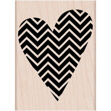 Hero Arts Chevron Heart Rubber Stamp