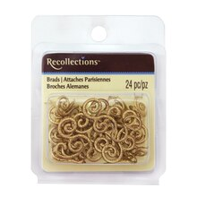 Gold Glitter Flourish Brads by Recollections